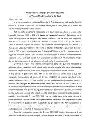 Relazione degli Amministratori all'Assemblea Straordinaria del 25 ...