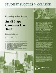 DEEP Practice Brief Small Steps Campuses Can Take - NSSE