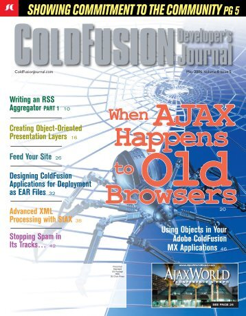 CFDJ 8-5.indd - sys-con.com's archive of magazines - SYS-CON ...