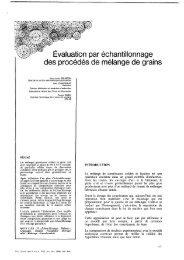 Évaluation par échantillonnage des procédés de mélange de grains