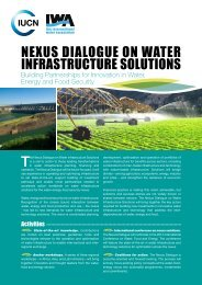 NExuS DIALOGuE ON WATEr INfrASTruCTurE SOLuTIONS