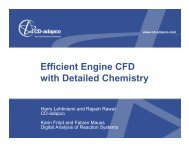 Efficient Engine CFD with Detailed Chemistry