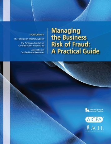 Managing the Business Risk of Fraud: A Practical Guide