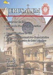 Bulletin - Patriarcat latin de Jérusalem