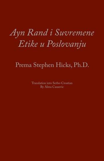 Ayn Rand i Suvremene Etike u Poslovanju - Stephen Hicks, Ph.D.