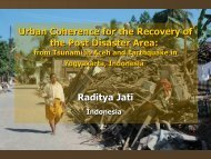 Jati_Urban Coherence for the Recovery of the Post Disaster Area ...