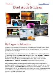 iPad Apps & Ideas - John Larkin