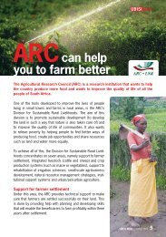 ARCcan help you to farm better - Ubisi Mail Magazine