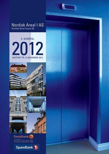 Rapport pr 31. desember 2012 - Swedbank