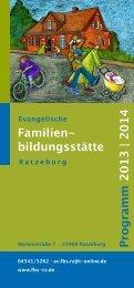 Familien- bildungsstätte Programm 2013 | 2014 - St. Georgsberg