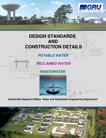 1) GRU Design Standards.pdf - Gainesville Regional Utilities