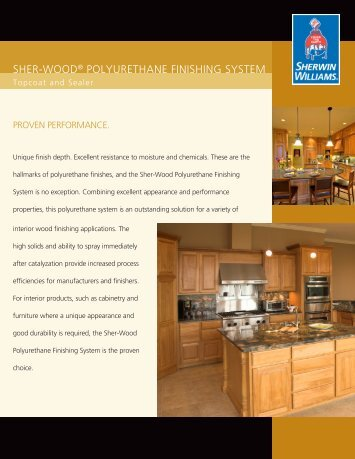SHER-WOOD Polyurethane Finishing Systems - Beyond Construction
