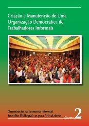 Criação e Manutenção de Uma Organização ... - Inclusive Cities