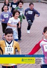 Bilancio Sociale 2009 Numeri per correre insieme - Impronta Etica