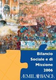 Bilancio Sociale e di Missione 2006 - Impronta Etica