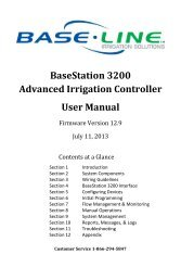 BaseStation 3200 V12 User Manual - Baseline Systems