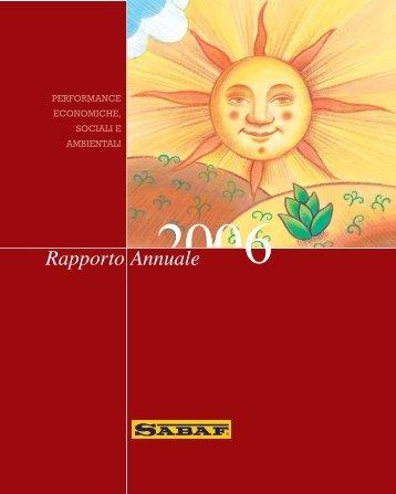 Bilancio 2006 - SABAF S.p.A.