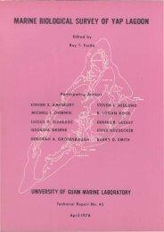 MARINE BIOLOGICAL SURVEY OF YAP LAGOON - University of ...