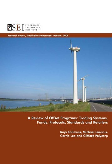 A Review of Offset Programs - The Sallan Foundation