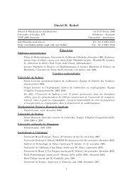 David R. Kohel - ECHIDNA: Elliptic Curves and Higher Dimensional ...