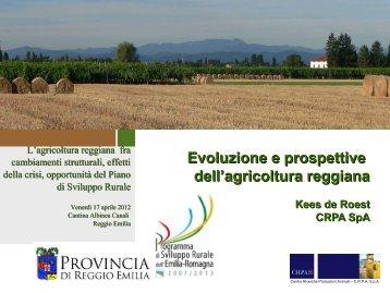 Evoluzione e prospettive dell'agricoltura reggiana - Provincia di ...