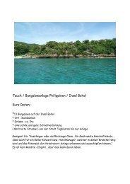 Tauch / Bungalowanlage Philippinen / Insel Bohol Kurz Daten : *13
