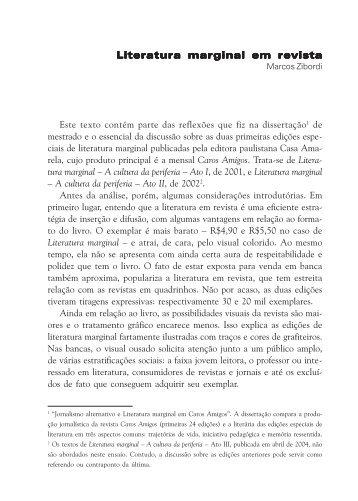 Literatura marginal em revista - Grupo de Estudos em Literatura ...