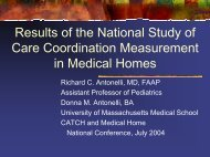 Results of the National Study of Care Coordination Measurement in ...