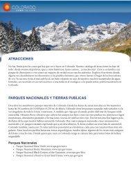 ATRACCIONES PARQUES NACIONALES Y TIERRAS PUBLICAS
