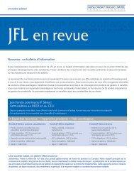 JFL en Revue - Hiver 2011 - Jarislowsky, Fraser Limited