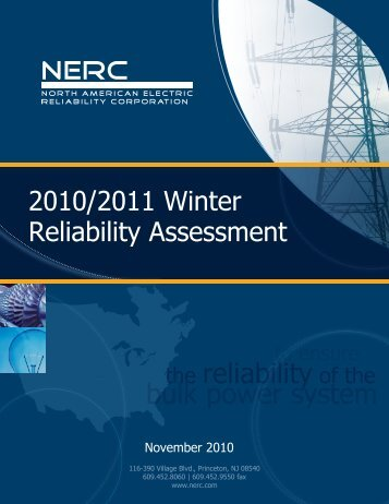 2010/2011 Winter Reliability - NERC