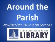 Around the Parish, Nov., Dec., and Jan. in 90 seconds, more or less