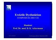 Prof. Dr. med. D. K. Ackermann Symposium 2004 - Vereinigung ...