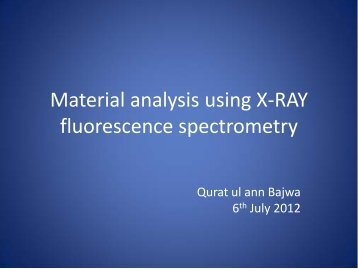 Material analysis using X-RAY fluorescence spectrometry
