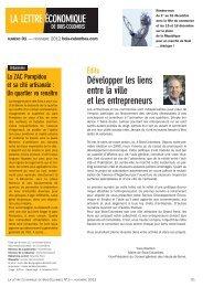 Découvrez la lettre économique de novembre 2012 - Bois-Colombes