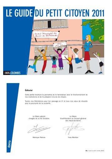 LE GUIDE DU PETIT CITOYEN 2011 - Bois-Colombes