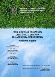 Relazione di piano - Provincia di Reggio Emilia