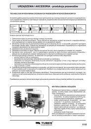 URZĄDZENIA I AKCESORIA - produkcja przewodów - Tubes ...