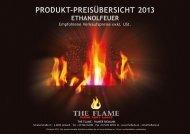 produkt-preisübersicht 2013 ethanolfeuer - The Flame