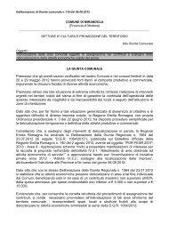 Delibera di Giunta comunale n. 119 del 09.08.2012 - Comune di ...