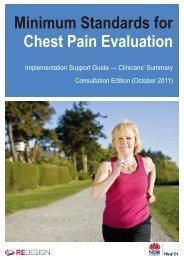 Minimum standards for chest pain evaluation ... - ARCHI