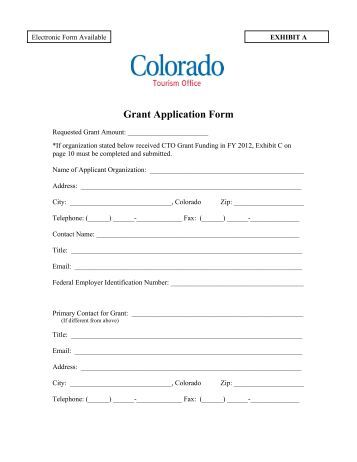 Land Use Request Application Form - Grant Website