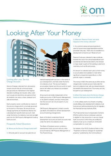Looking After Your Money - OM Property Management
