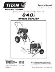 840i - Paint Sprayers, HVLP Sprayers, Powered Rollers