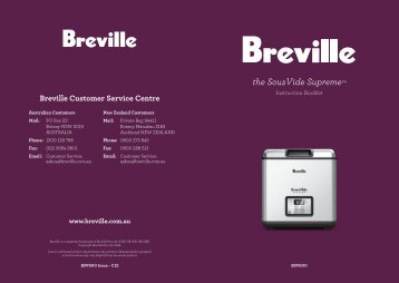 the SousVide Supreme™ - Breville