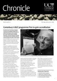 No 2 - 26 February 2004 - Communications - University of Canterbury