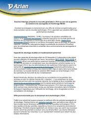 Overland Storage présente la nouvelle génération LTO-5 ... - Techdata