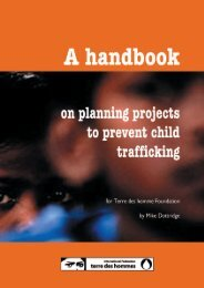 Handbook on planning projects to prevent Child Trafficking