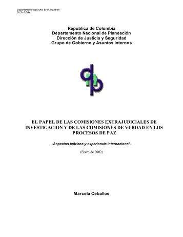 el papel de las comisiones extrajudiciales de investigacion y de las ...