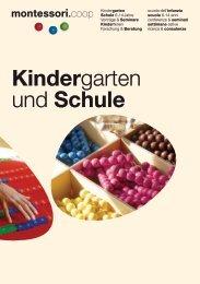 Broschüre Kindergarten und Schule
